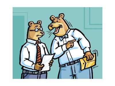 Office Bears-Jerry Gonzalez-Giclee Print