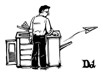 Office Copy Machine Shoots Out A Paper Airplane New Yorker