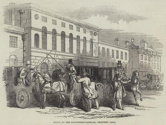 Office of the Accountant-General, Chancery Lane--Giclee Print