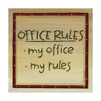 Office Rules-Karen Tribett-Art Print