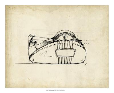 Office Supply Sketch III-Julie Silver-Giclee Print
