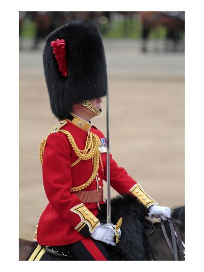 Officer at the The Queen's Annual Birthday Parade Trooping the Colour--Art Print