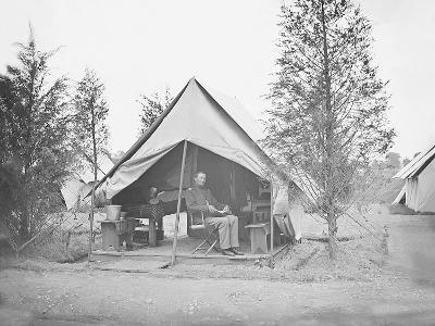 Officer in Tent During American Civil War-Stocktrek Images-Photographic Print