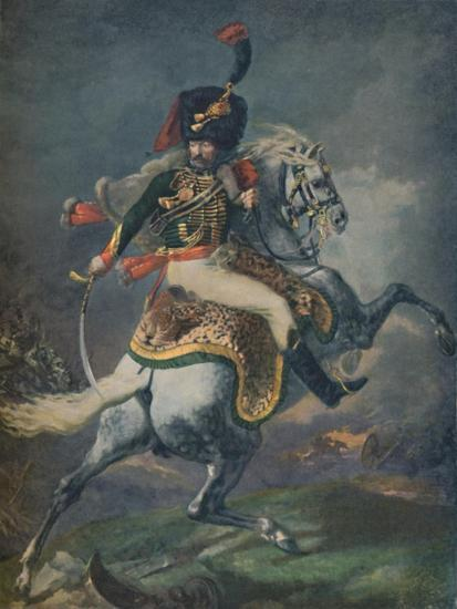 'Officer of the Mounted Chasseurs Charging. (Imperial Guard)', c1812, (1896).-Unknown-Giclee Print
