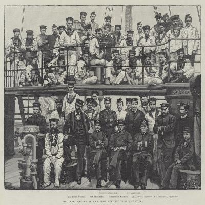 Officers and Crew of HMS Wasp, Supposed to Be Lost at Sea--Giclee Print