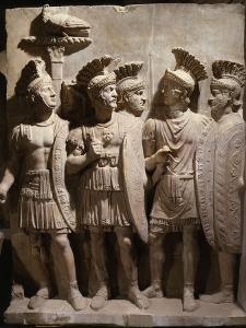 Officers and Soldiers of the Praetorian Guard, Relief, 2nd century AD Roman