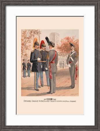 Officers Cavalry And Artillery Cadets Usma In Full Dress Art Print H A Ogden Art Com