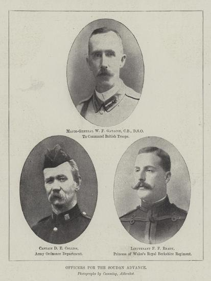 Officers for the Soudan Advance--Giclee Print