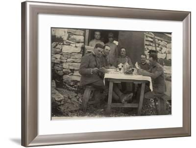 Officers Mess in a War Zone--Framed Photographic Print
