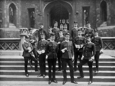 Officers of the 1st Suffolk Regiment at the Tower of London, 1895-WW Rouch-Giclee Print