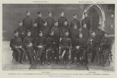 Officers of the 2nd Northumberland Fusiliers--Giclee Print