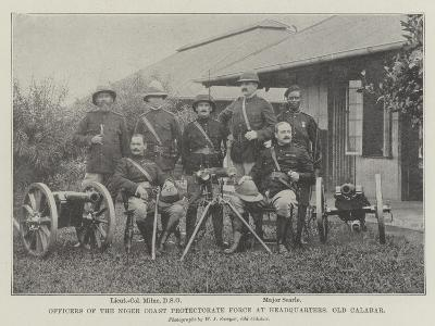 Officers of the Niger Coast Protectorate Force at Headquarters, Old Calabar--Giclee Print