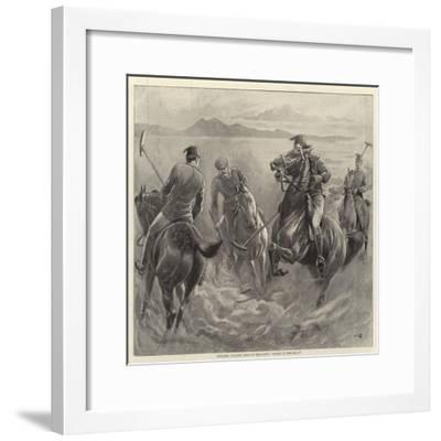 Officers Playing Polo in the Sand, Where Is the Ball?-John Charlton-Framed Giclee Print