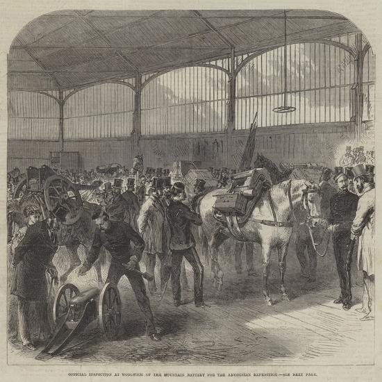 Official Inspection at Woolwich of the Mountain Battery for the Abyssinian Expedition--Giclee Print