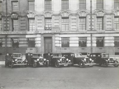 Official London County Council Cars and Chauffeurs, County Hall, London, 1935--Photographic Print