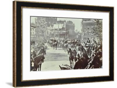 Official Opening of the Blackwall Tunnel, Poplar, London, 1897--Framed Photographic Print