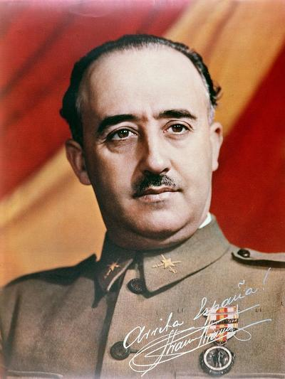 Official Portrait of General Francisco Franco--Giclee Print