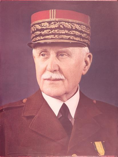 Official Portrait of Marshal Petain--Photographic Print