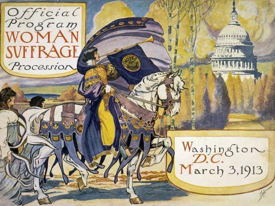 Official Program Woman Suffrage Procession--Giclee Print