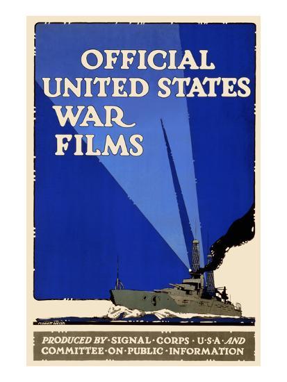 Official United States War Films- U.S. Gov't-Art Print