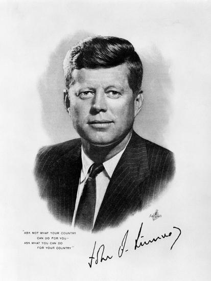 Official White House Portrait John Fitzgerald Kennedy 35th American President--Photographic Print