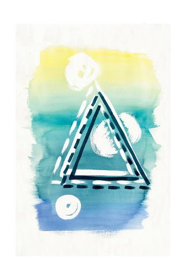 Offset Shapes Triangle-Elyse DeNeige-Art Print