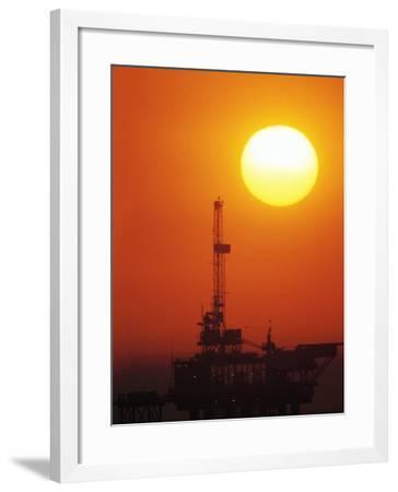 Offshore Oil Drilling-Doug Mazell-Framed Photographic Print