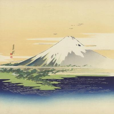 Fuji From the Beach at Mio, 1900-10