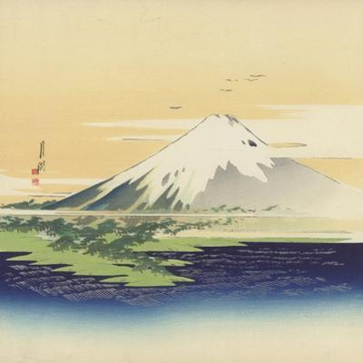 Fuji From the Beach at Mio, 1900-10 by Ogata Gekko
