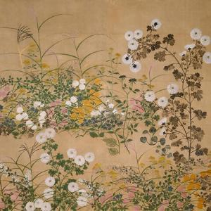 Flowering Plants in Autumn, 18th Century by Ogata Korin