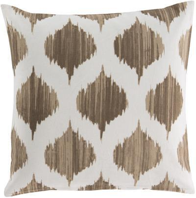 Ogee Poly Fill Pillow - Mocha