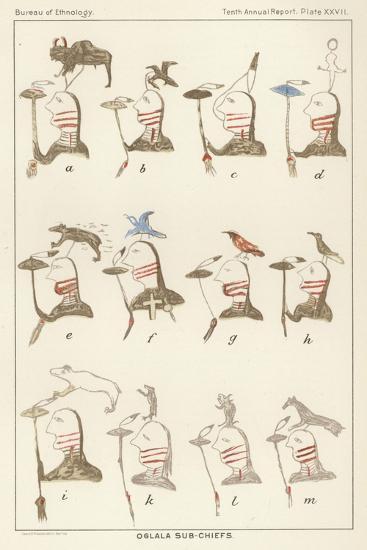 Oglala Sub-Chiefs--Giclee Print