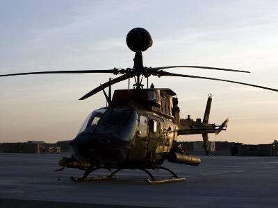 OH-58D Kiowa During Sunset-Stocktrek Images-Photographic Print