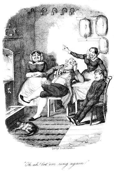 Oh Ah! Let 'Em Ring Again!, C1840S-George Cruikshank-Giclee Print