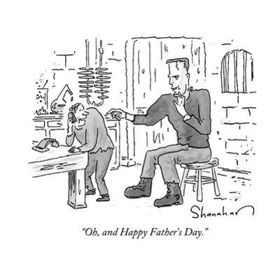 """""""Oh, and Happy Father's Day."""" - New Yorker Cartoon"""
