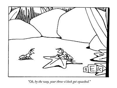 """""""Oh, by the way, your three-o'clock got squashed."""" - New Yorker Cartoon-Bruce Eric Kaplan-Premium Giclee Print"""