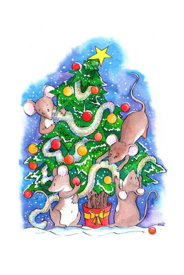 Oh Christmouse Tree!-Emma Graham-Giclee Print