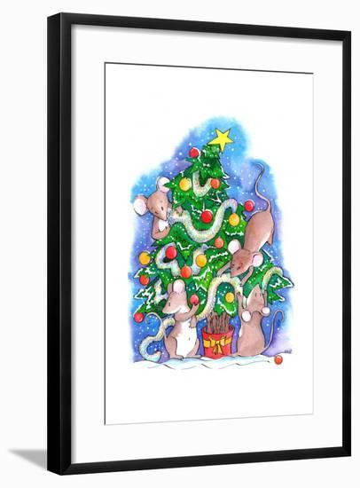 Oh Christmouse Tree!-Emma Graham-Framed Giclee Print