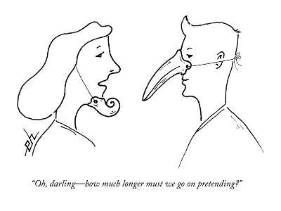 """Oh, darling?how much longer must we go on pretending?"" - New Yorker Cartoon-Erik Hilgerdt-Premium Giclee Print"