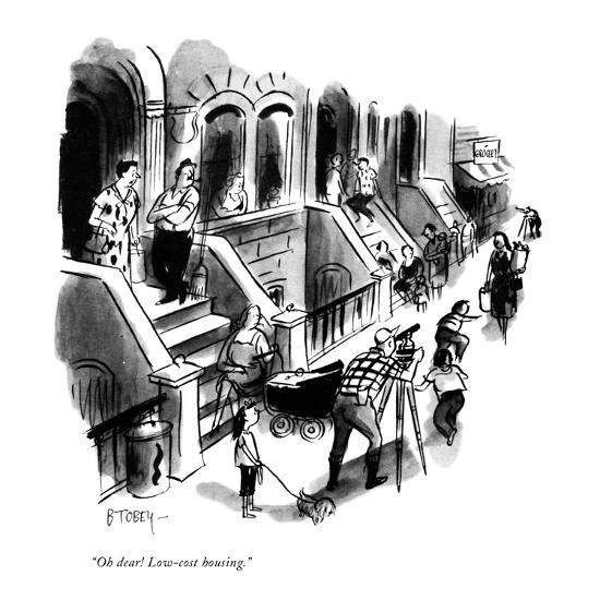 """""""Oh dear! Low-cost housing."""" - New Yorker Cartoon-Barney Tobey-Premium Giclee Print"""