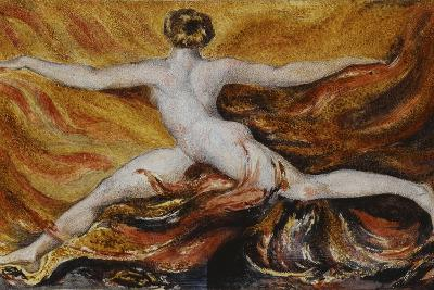 Oh! Flames of Furious Desires: Plate 3 of Urizen, 1796-William Blake-Giclee Print