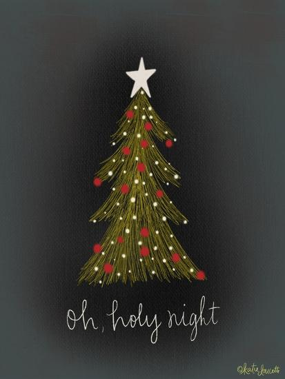 Oh Holy Night Tree-Katie Doucette-Art Print