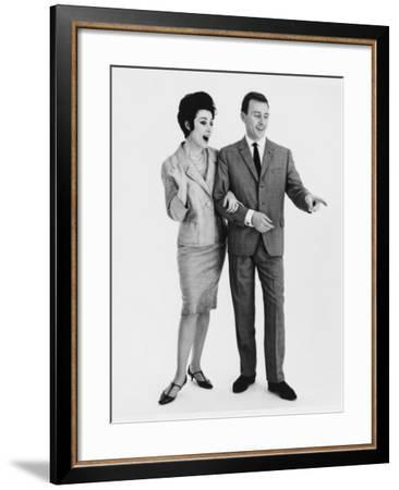 """Oh Look at That. """"Yes Isn't it Funny."""" A Couple Point and Laugh--Framed Photographic Print"""
