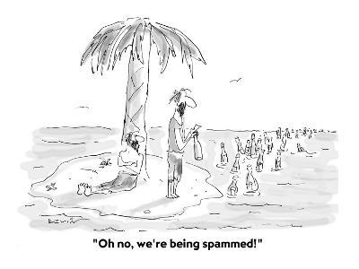 """Oh no, we're being spammed!"" - Cartoon-Arnie Levin-Premium Giclee Print"
