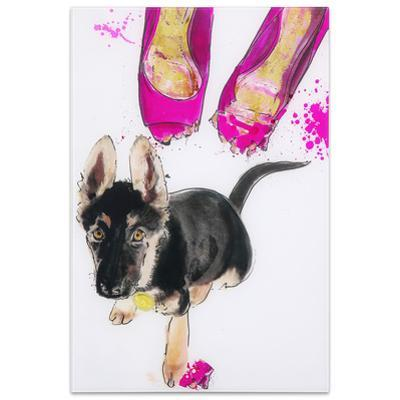 Oh Oh! - Free Floating Tempered Glass Panel Graphic Wall Art