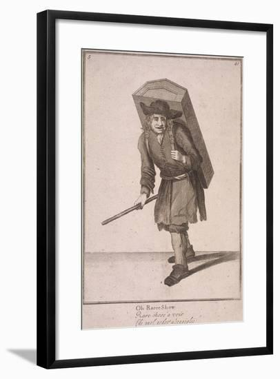 Oh Raree Show, Cries of London, (1688)-Marcellus Laroon-Framed Giclee Print