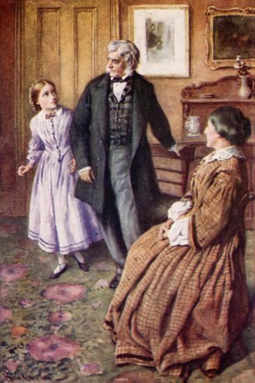 """""""Oh, Sir! They Do Care, Very, Very Much!""""-Harold Copping-Giclee Print"""