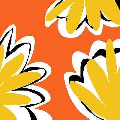 Oh So Pretty - Orange 2-Jan Weiss-Art Print