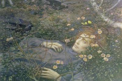 'Oh What's That in the Hollow?'-Edward Robert Hughes-Giclee Print