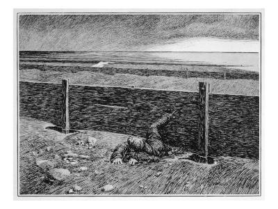 Oh, Whistle, and I'll Come to You! Parkins's Dream of the 'thing' on the Sea-Shore--Giclee Print